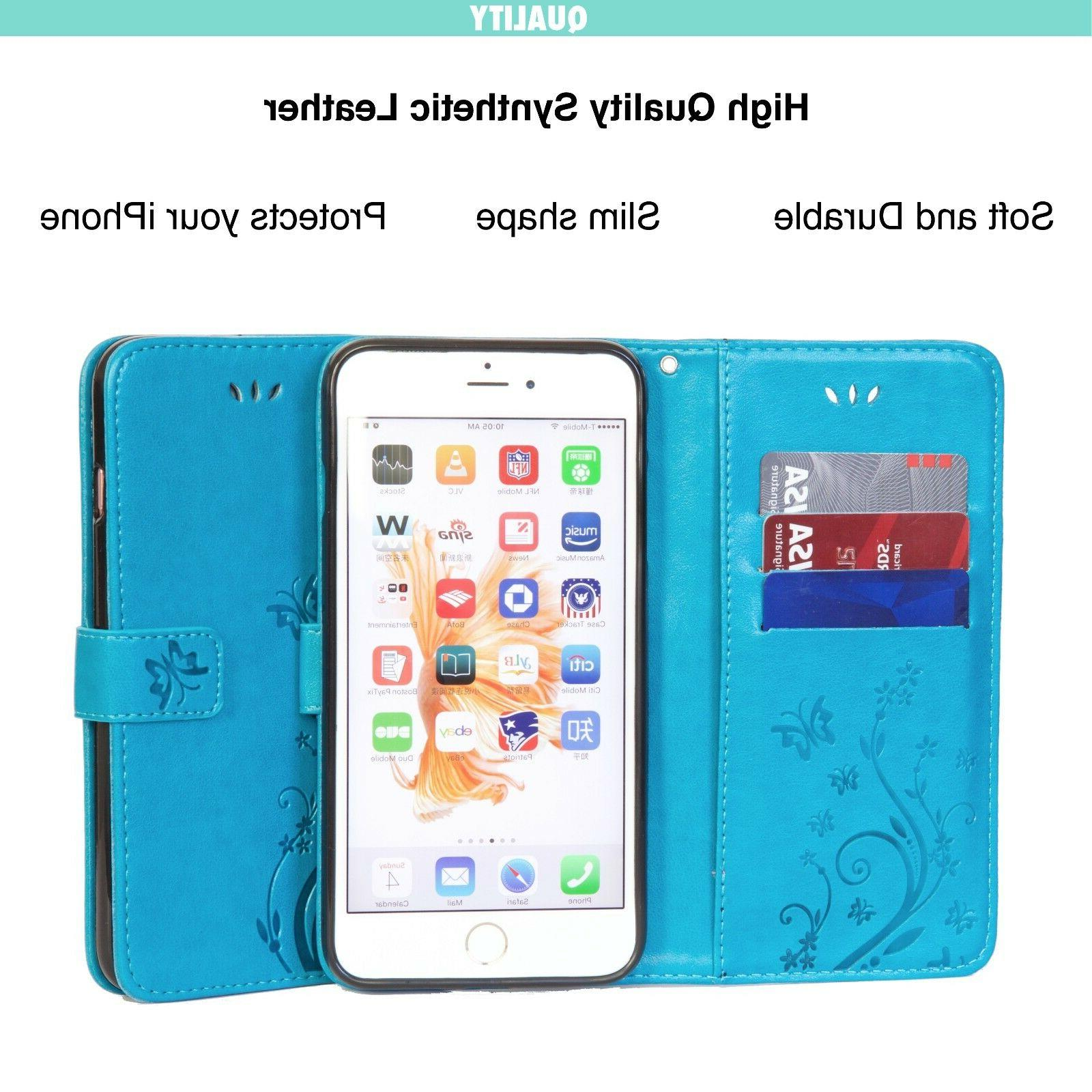 Luxury Wallet Apple iPhone 6//7/8/X/Plus