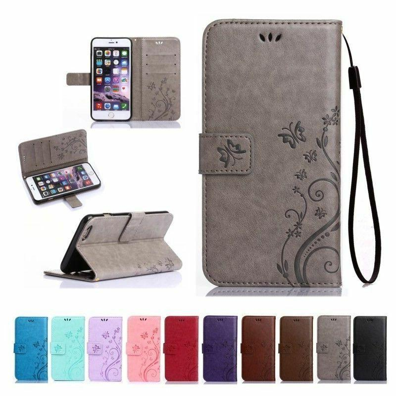 luxury magnetic cover stand wallet leather case