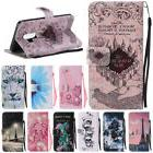 Luxury Pattern Leather Card Flip Wallet Stand Case Cover For