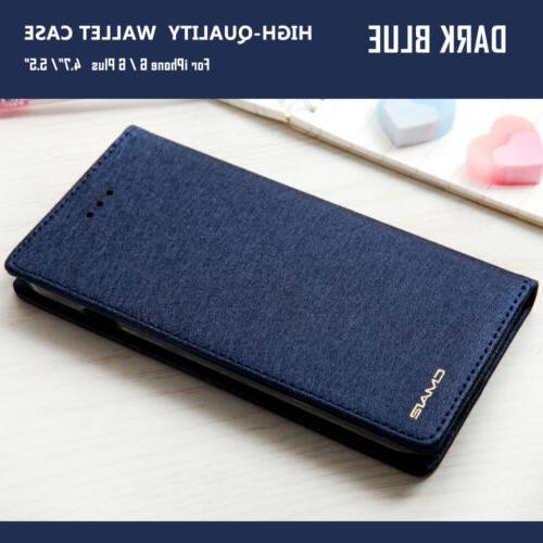 Luxury Wallet Flip Case SLIM Stand Cover iPhone Max X 6