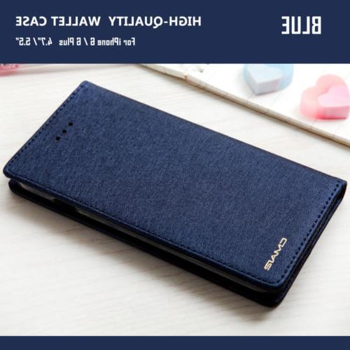 Luxury Slim Silk Leather Stand Case Cover For 8 7 &6S