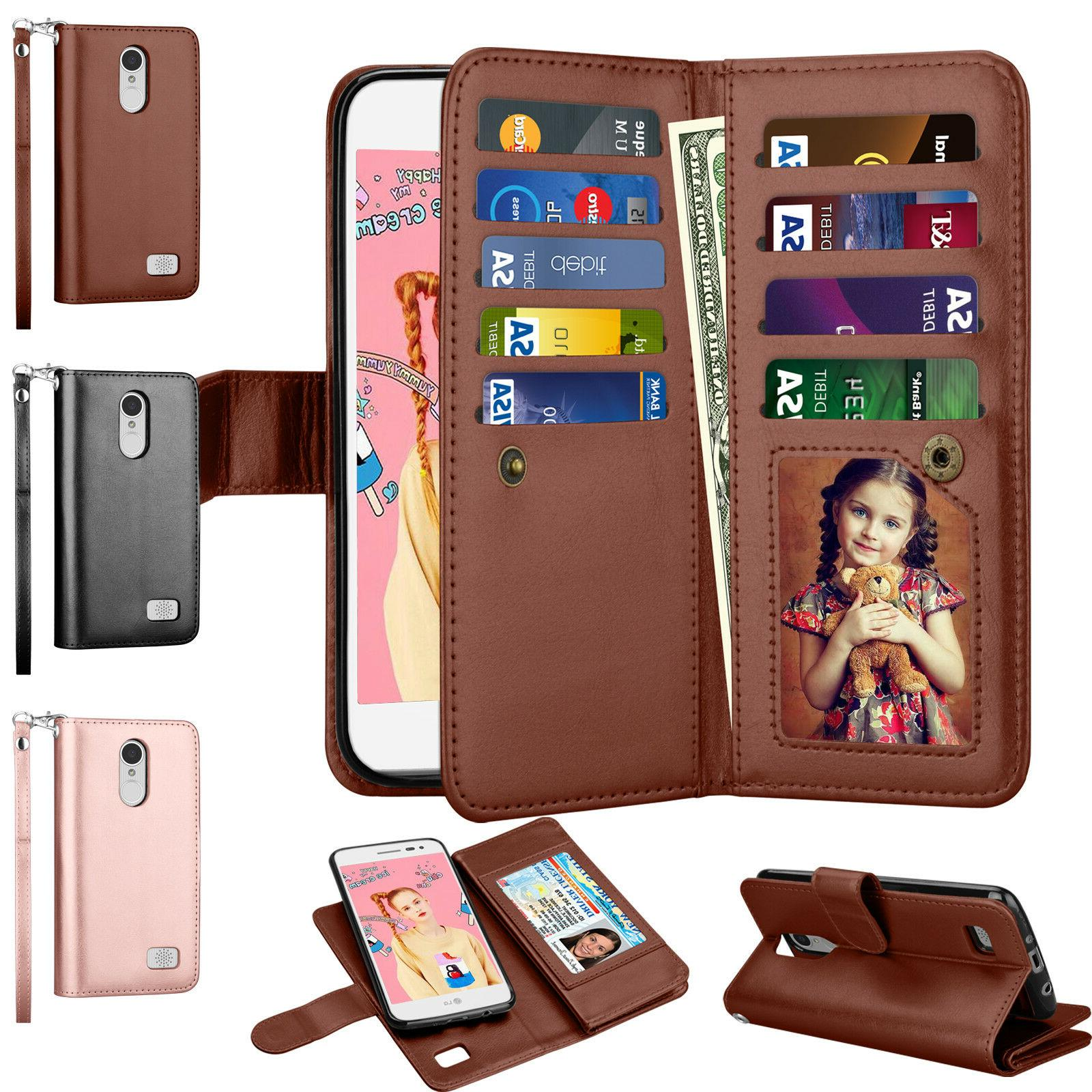 Luxury Wallet Leather Phone Case Flip Stand Card Shockproof