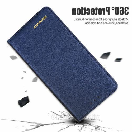 Luxury Wallet Silk Leather Flip Case Cover For Max 7 6