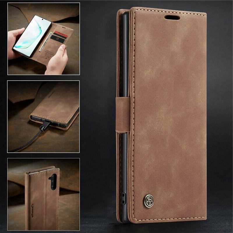 Magnetic Flip Cover Leather Wallet Stand Case For Galaxy Not