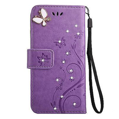 Magnetic Flip Leather Card Diamond Wallet Cover 7 Plus