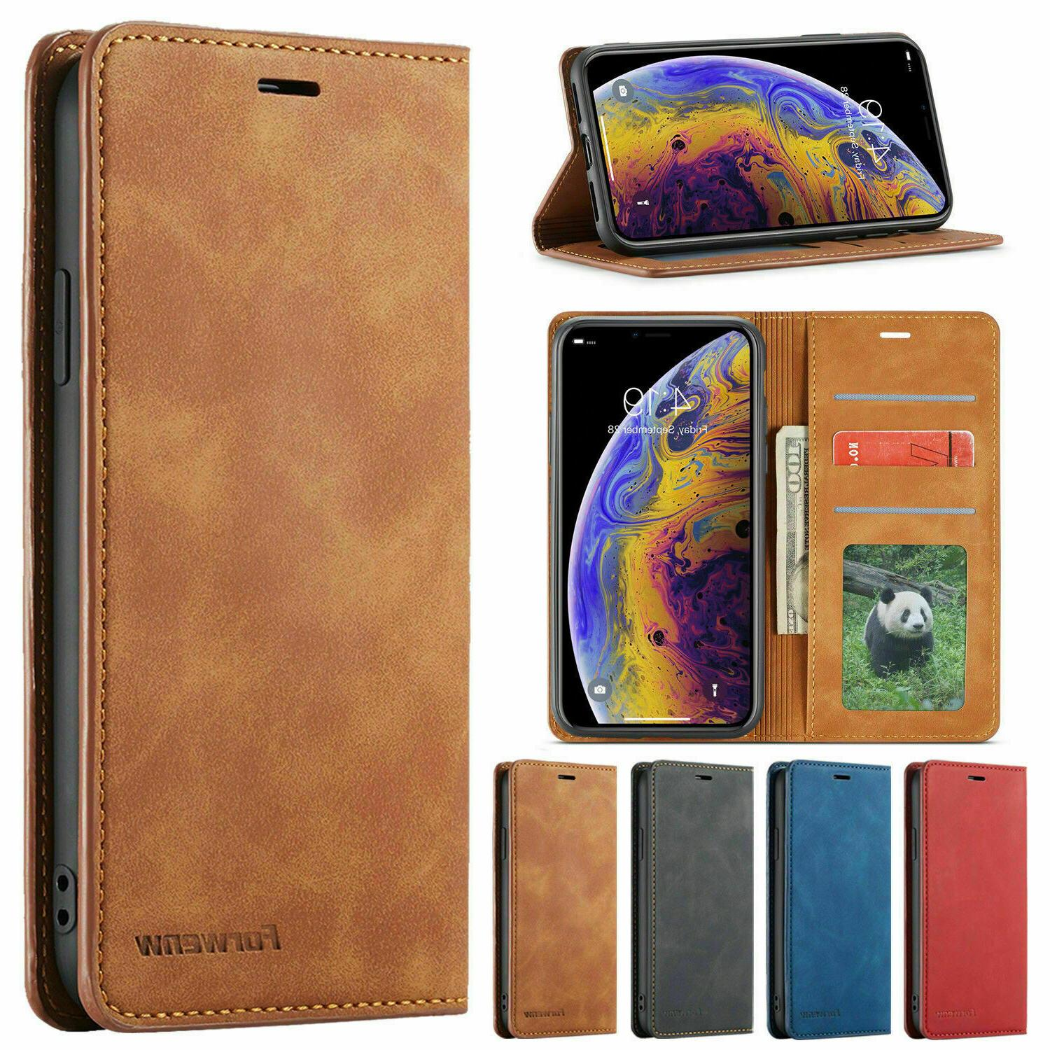 Magnetic Flip Leather Case Cover 11 X XR 8 7 6 Plus