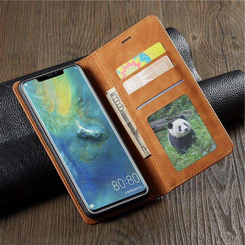 Magnetic Leather Huawei Mate20 P20 Pro P Plus <font><b>Wallet</b></font> Flip Hawei Cover