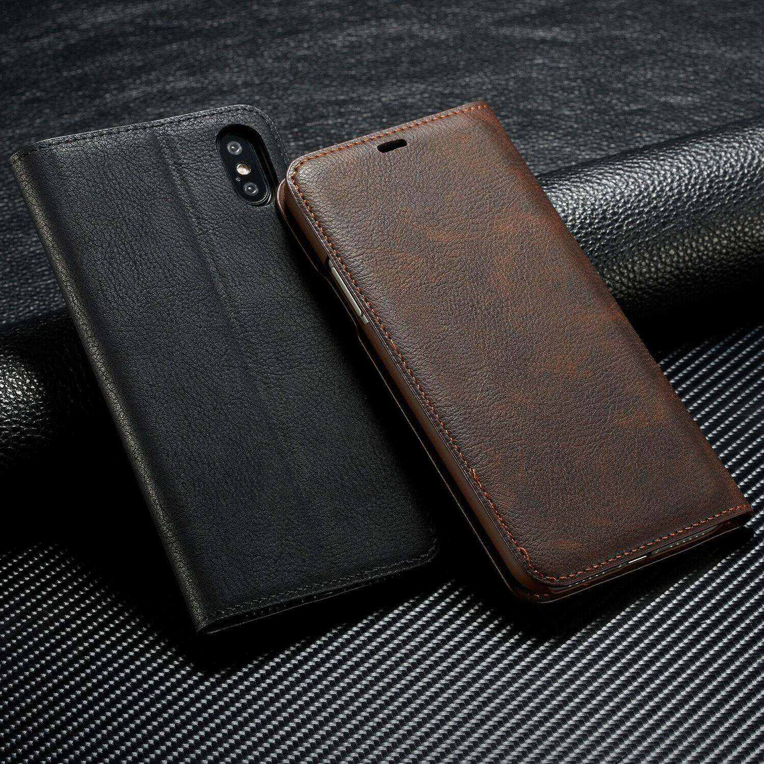Magnetic Leather Wallet Case For iPhone X For iPhone