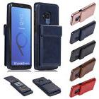 Man Flip PU Leather Wallet Card Up and Down Open Case For Sa