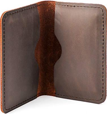 Men and Women Leather Business Holder Brown