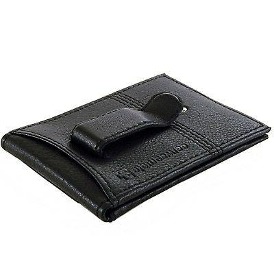 men leather twofold money clip