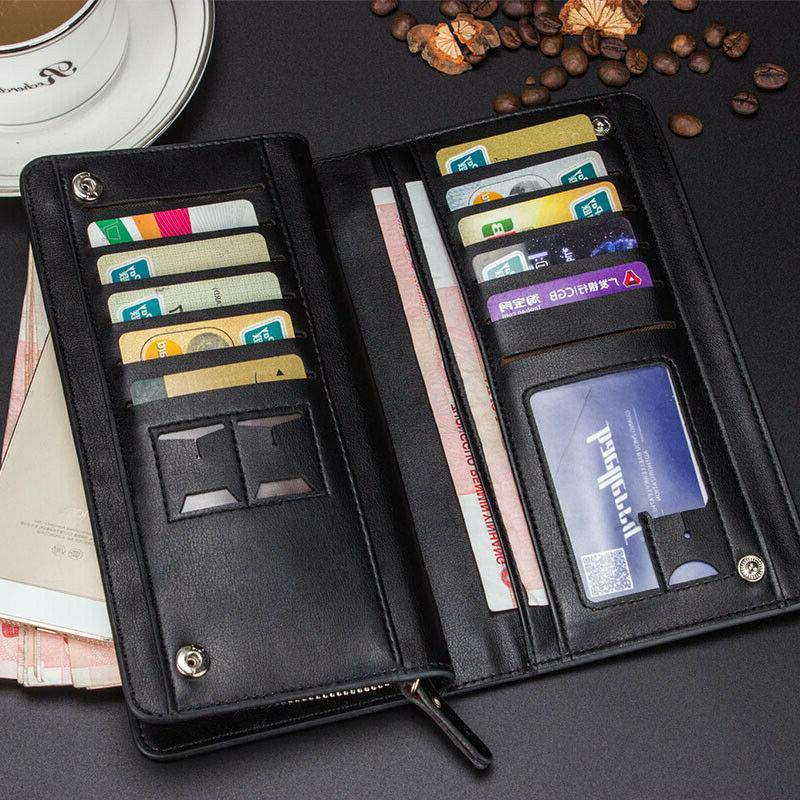 Men's Bifold Clutch Card Holder Case