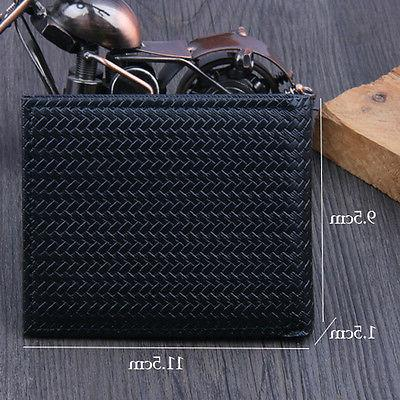 Men's Business Weave Holder Case Purse