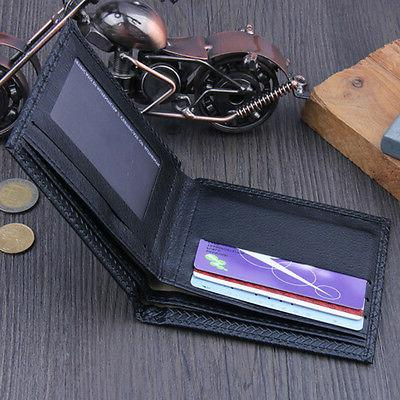 Men's Business Leather Wallet Holder Purse