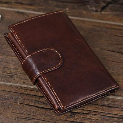 Men's Genuine Wallet Coin Card Case Mens Vintage Trifold