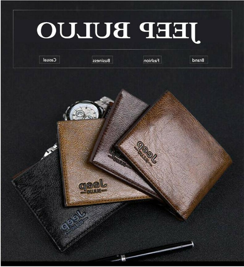 JEEP BULUO Men's Money Clips Leather For Case