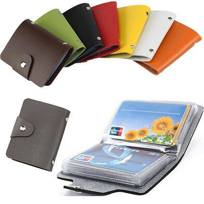 men s pu leather pocket business id