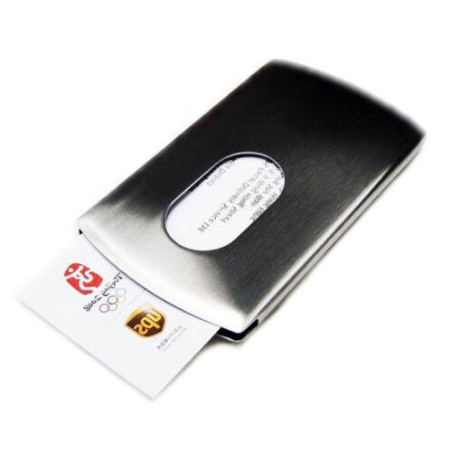 Men's Wallet Business Stainless Steel Name Credit Card Holder Pocket