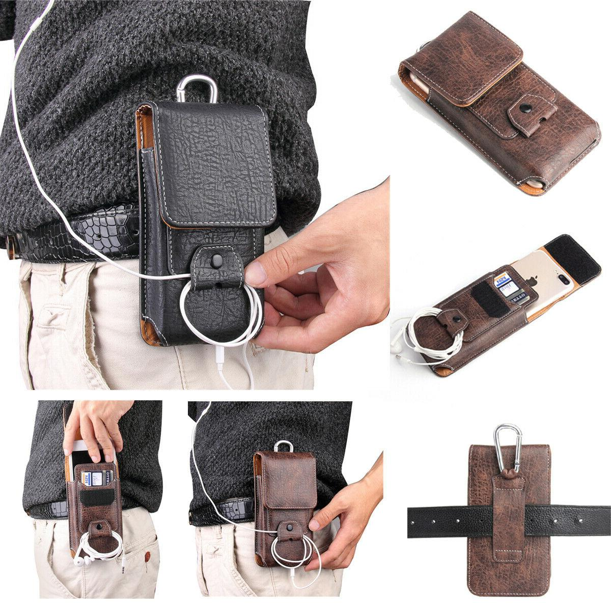 mens belt pouch leather loop holster carrying