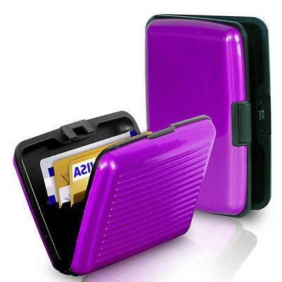 Mens ID Credit Protector Clip Card Case