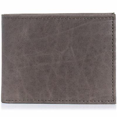 Alpine Swiss Mens Wallet up Removable Case Grey