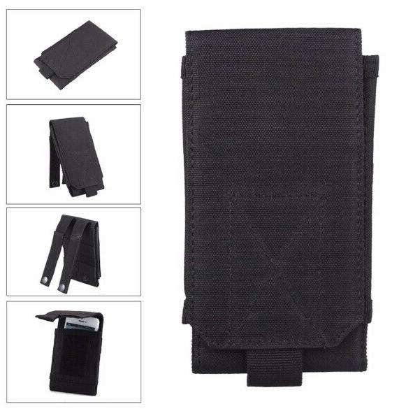 Mens Nylon Cell Phone Pouch Waist Case Sleeve