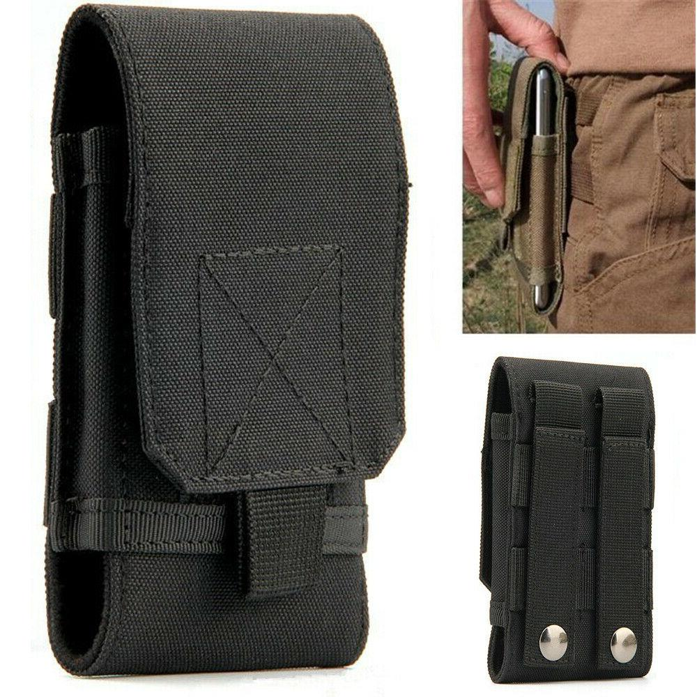 mens nylon belt loop cell phone pouch