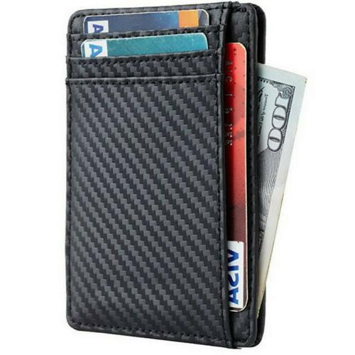 Mens Blocking Front Wallet Purse
