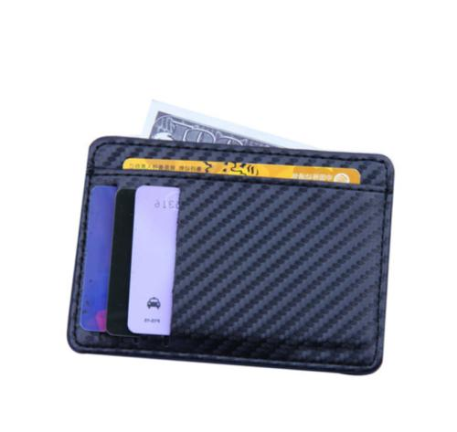 Mens RFID Business Credit Card Case Front Pocket Wallet