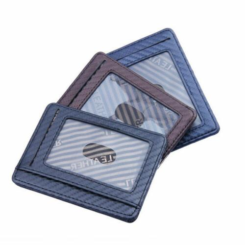 Mens RFID Leather Business Front Pocket Wallet