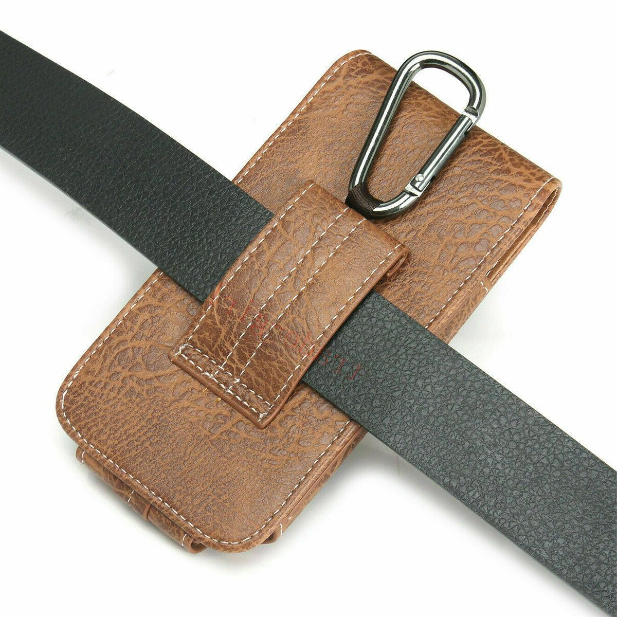 Mens Belt Loop PU Leather Holster Wallet Case Phone Pouch
