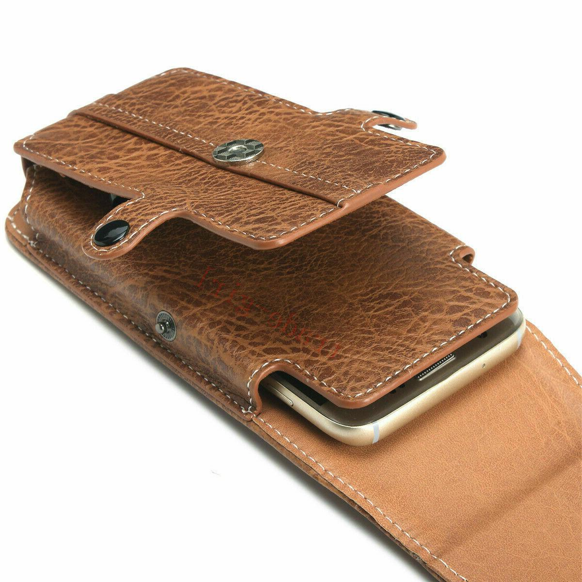 Mens Loop PU Holster Phone Pouch