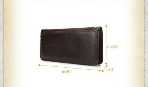 Men's Leather Business Card Long