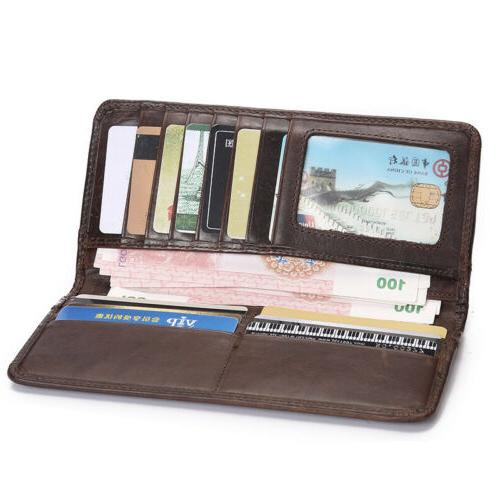 Men's Wallet Leather Business Long