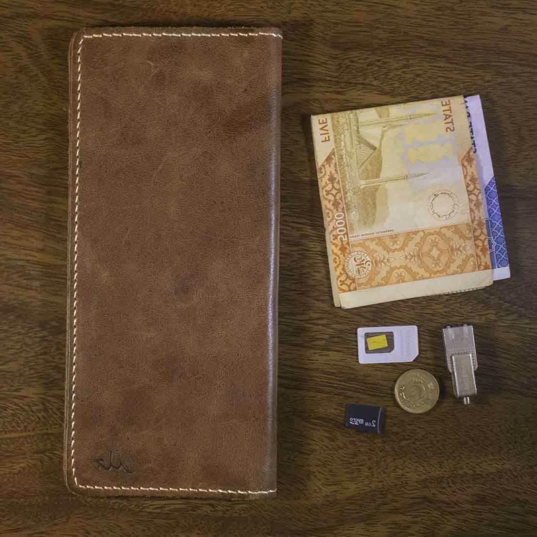 mens wallet real genuine leather business card
