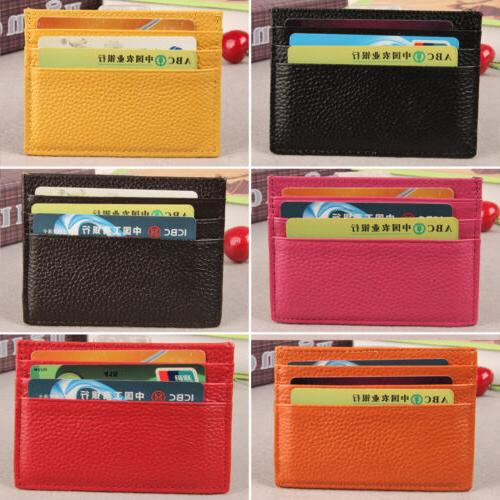 mens womens slim id credit card holder