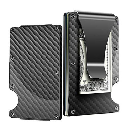 Minimalist Carbon Fiber Wallet,Slim Wallet & RFID Blocking F