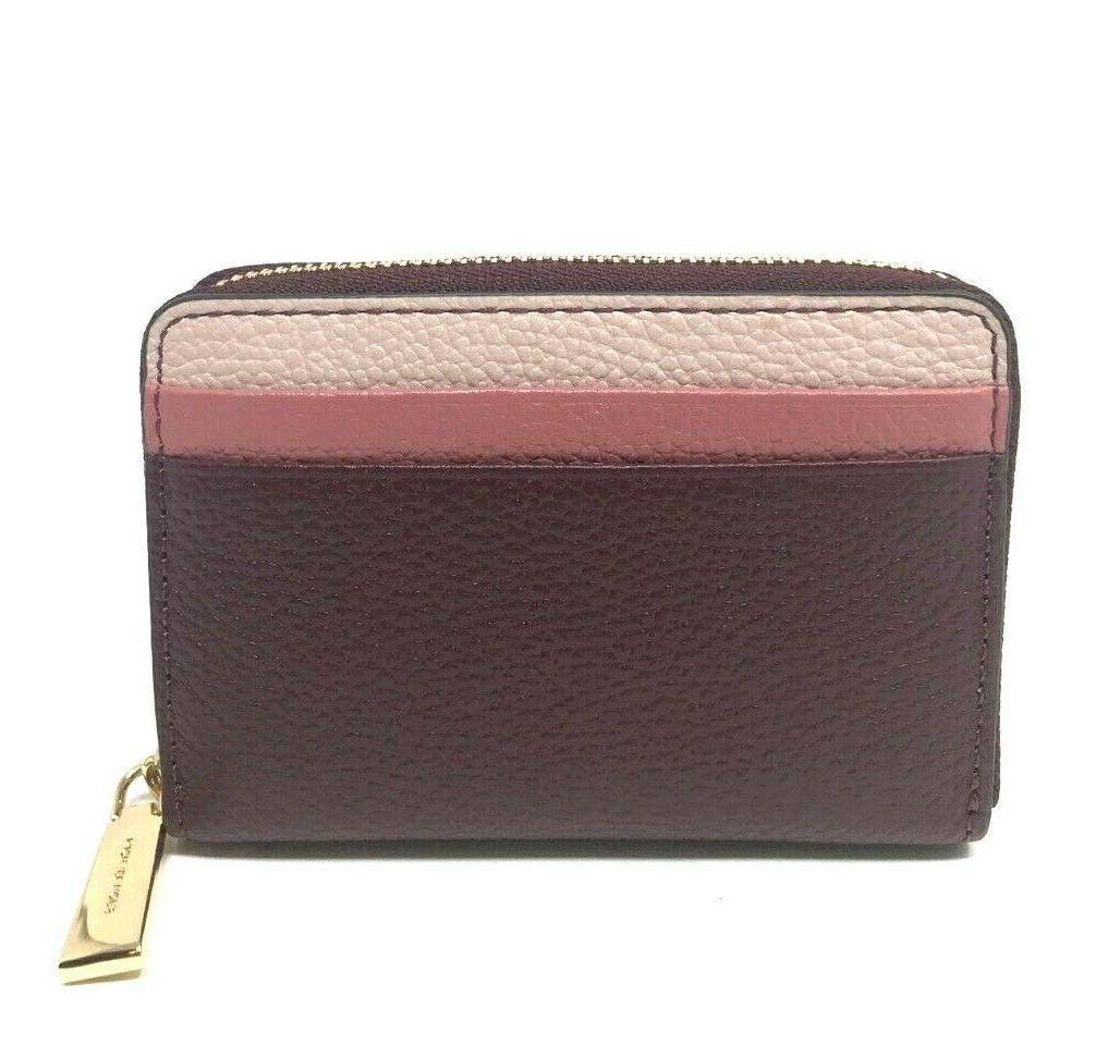 Michael Kors Zip-Around Coin Case Rose Leather
