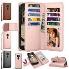 For Motorola G6 Play / G6 Forge Leather Wallet Case Flip Hol