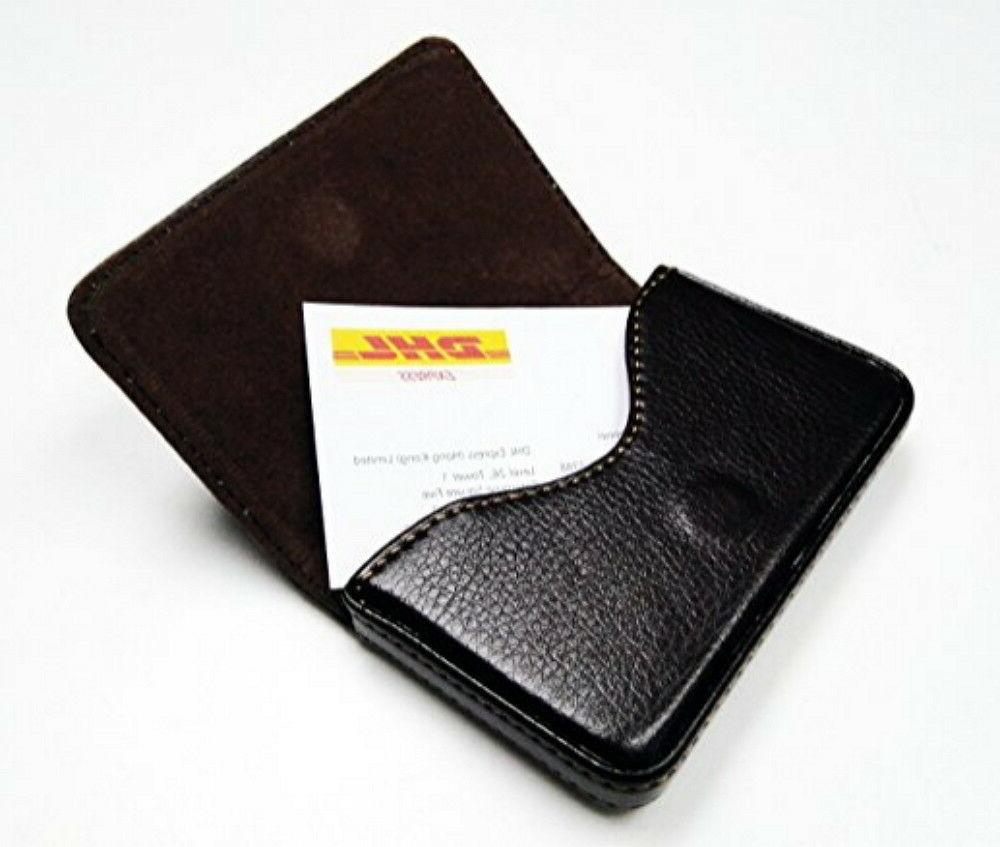 New Black PU Leather Card Holder Case