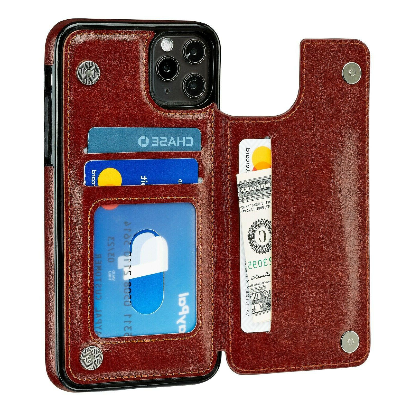 iPhone 12 Case Wallet Mini / 12 Pro / Pro Max Leather Magnet