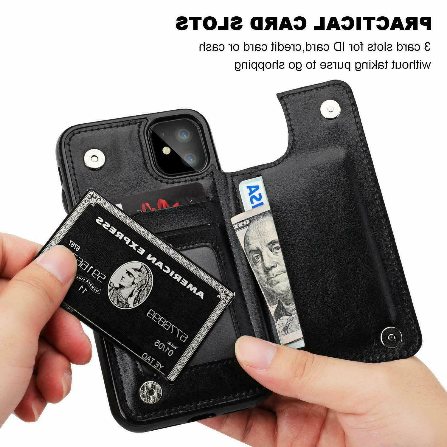 New iPhone Pro / Case Cover Wallet Kickstand for