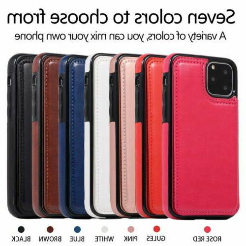 New iPhone Pro / Max Case Cover Leather Kickstand for