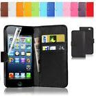 New Wallet Flip PU Leather Phone Case Cover For iPhone Samsu
