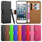 New Wallet Leather Flip Case Cover For APPLE iPod Touch 5th