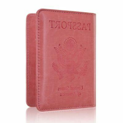 Passport Genuine Leather Cards Case Cover Travel
