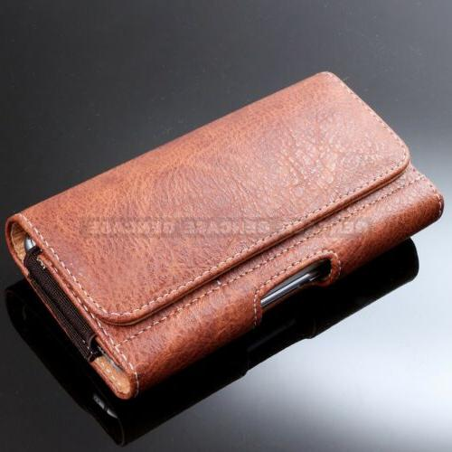 Pouch Case Leather for Cell Wallet Belt Clip Carrying Case