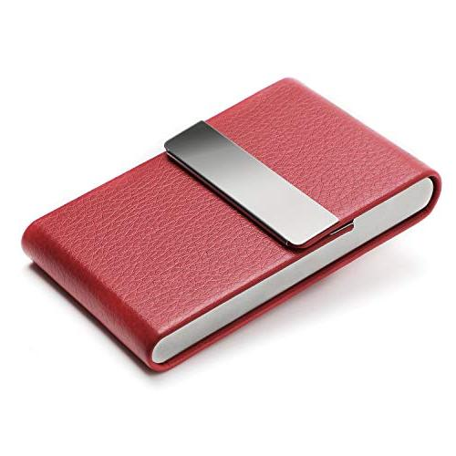 MaxGear Card Holder Women Slim Business Card Stainless Steel Magnetic