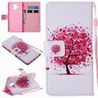 PU Leather Wallet Case Flip Cover Stand Card Slot for Phones