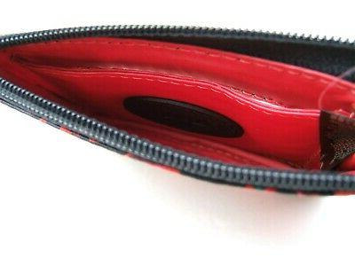 Fossil Red Skinny Card Wallet